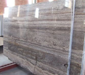 silver travertine-Slab